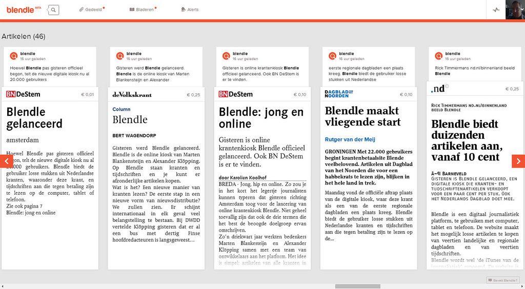 startup Blendle in het nieuws