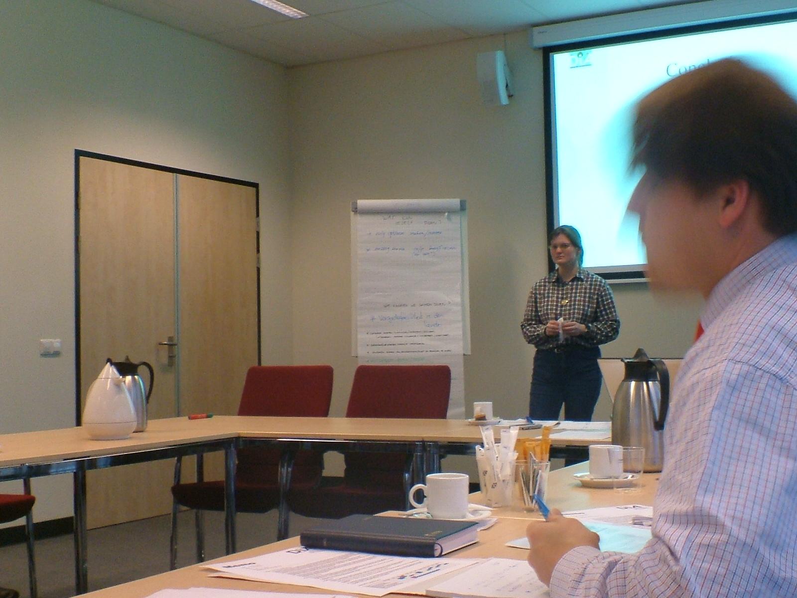 Janneke Rotman presenteert haar onderzoek
